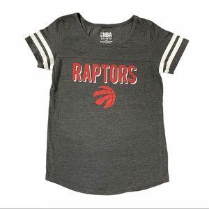 NBA Raptors Girl's Short Sleeve Tee Size L 10-12